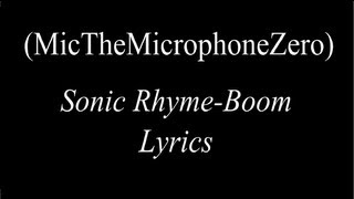Sonic Rhyme-Boom [Rap] Lyrics