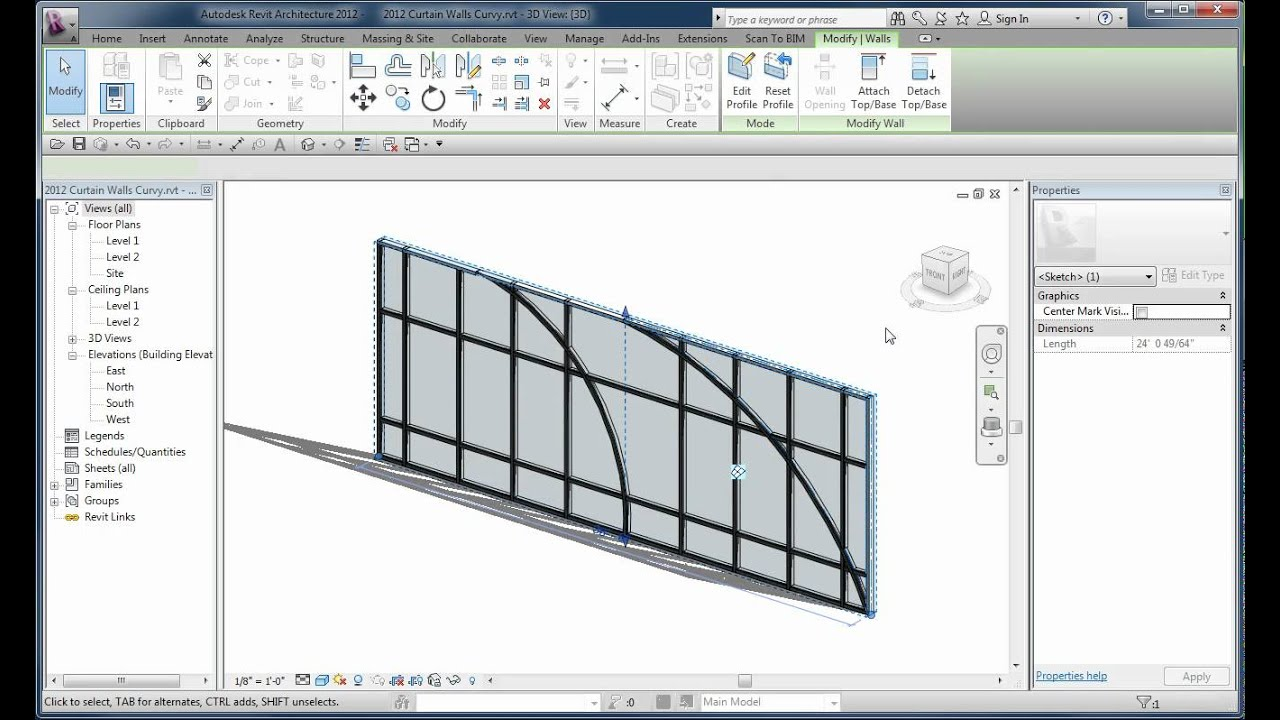Curved Curtain Wall Edges Youtube