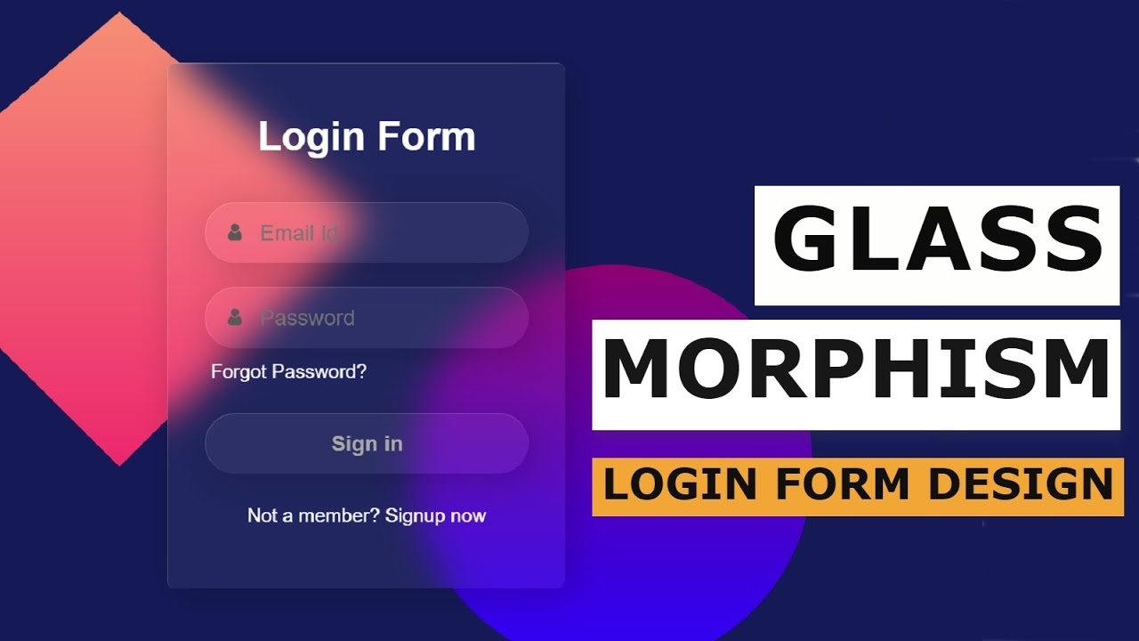 Beautiful Glass Morphism Login Form in HTML & CSS