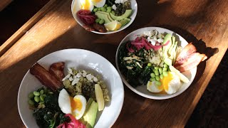 Brown Rice Bowl | Soft Boiled Egg, Garlicky Kale, And Bacon!