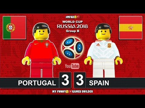 Portugal vs Spain 3-3 • World Cup 2018 (15/06/2018) All Goals Highlights Lego Football