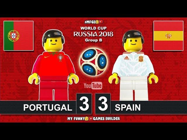 Portugal vs Spain 3-3 • World Cup 2018 (15/06/2018) All Goals Highlights Lego Football