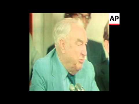SYND 26/07/73 SENATORS ERVIN AND BAKER STATEMENTS ABOUT NIXON BUGGING TAPES