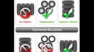 Как правильно хранить шины,хранение резины