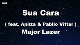 Sua Cara feat. Anitta & Pabllo Vittar - Major Lazer Karaoke 【No Guide Melody】 Instrumental
