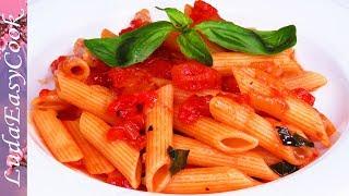 ВКУСНАЯ ЕДА в ПОСТ! Макароны В Остром Томатном Соусе АРРАБИАТА Итальянская Кухня обед ЗА 15 МИНУТ!