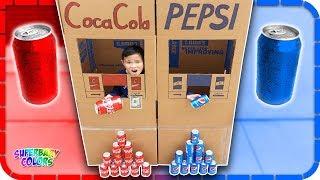 Coca Cola vs Pepsi Vending Machine Pretend Play 🤣🥤🐯