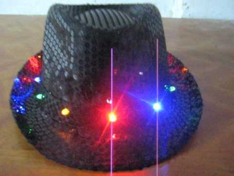 b1d62380daa30 Hat Black Sequin Light-up - YouTube