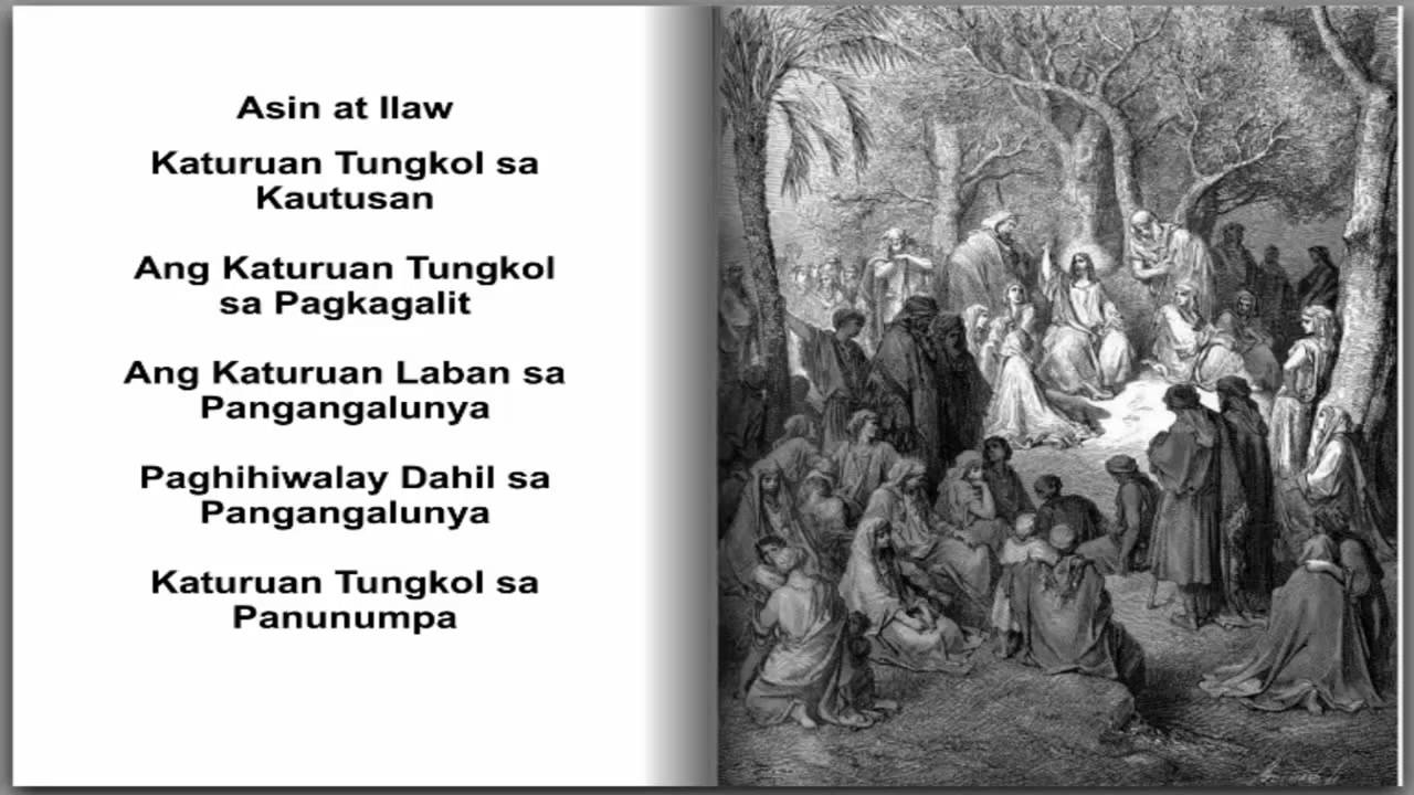 Mateo 5 - Ang Sermon sa Bundok (audio bible Tagalog/Filipino Version with  Pictures)