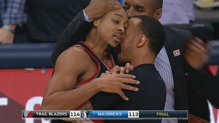 Cj mccollum game winner! evan turner breaks hand! blazers vs mavericks
