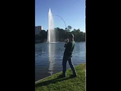 Fishing in Herman Park near the Zoo Houston Texas