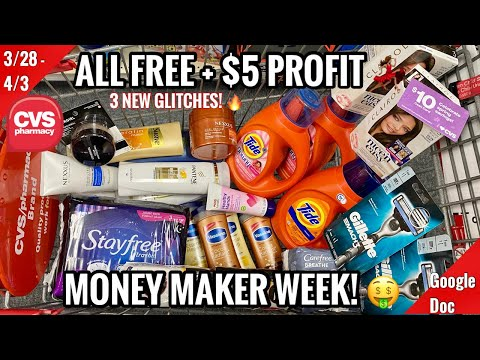 CVS Free & Cheap Coupon Deals & Haul | 3/28 – 4/3 | Money Maker Week! $175 in Products – ALL FREE 🔥