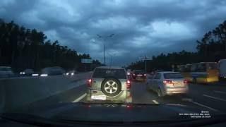 Видеорегистратор SHO-ME A7-GPS-GLONASS: вечернее видео, авторегистратор