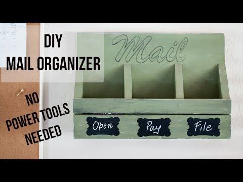 Easy DIY Mail Organizer - No Power Tools Needed