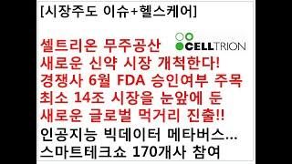[시장주도 이슈+헬스케어]셀트리온 무주공산새로운 신약 …