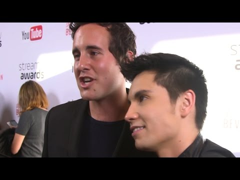 Sam Tsui & Casey Breves Recall Accidental 'Weed' Pocket Tweets - Streamy Awards 2016
