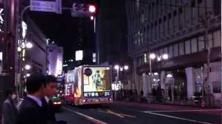 渋谷を走る、松下優也「2U」宣伝車を撮影。