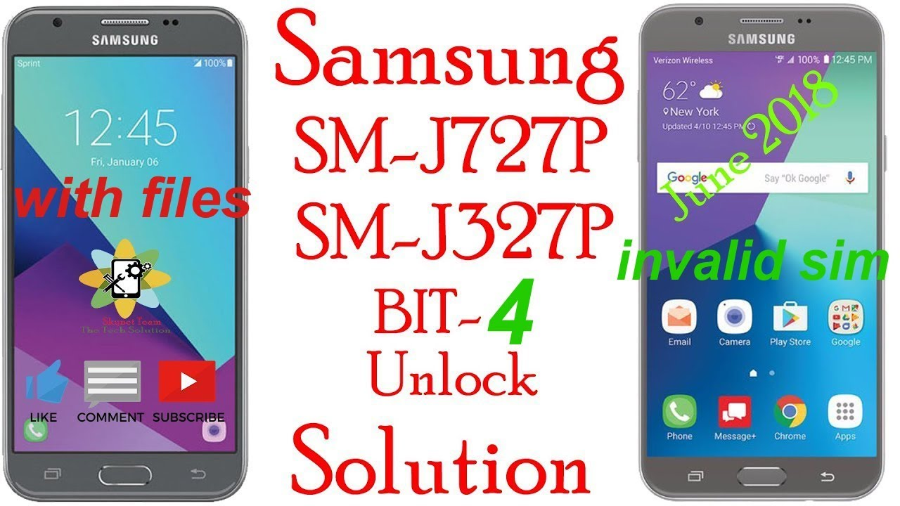 Samsung J3 emerge sm-j327p sprint invalid sim unlock solution