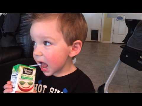 2 year old boy talking