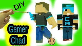 DIY Custom Gamer Chad Minecraft Toy - Acrylic Paint Painting Do It Yourself Craft Video