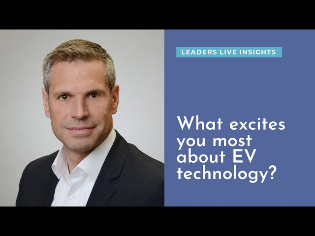 What excites you most about EV technology? Heiko Weller, Bosch | Leaders LIVE Insights