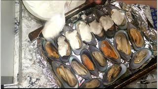 Запекаем мидии. Готовим дома./baked mussels/gebackene Muscheln/moules cuites/mejillones horneados