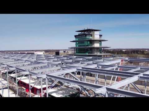 Indianapolis Motor Speedway 100th project by Hunt Construction presented by aerialEyes