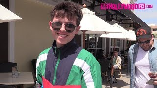 Jacob Sartorius Talks Millie Bobby Brown, RiceGum & New Music While Leaving Lunch With The Squad