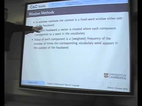"""Stephen Clark: """"Compositional and distributional models of meaning for natural language"""""""