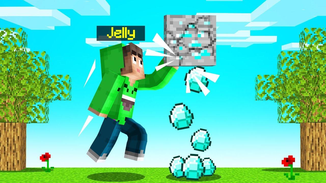 Touch BLOCK = GET DIAMOND! (Minecraft)