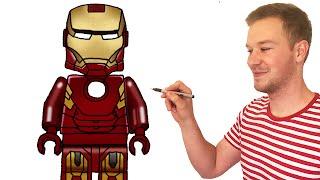 How to Draw Lego Iron Man