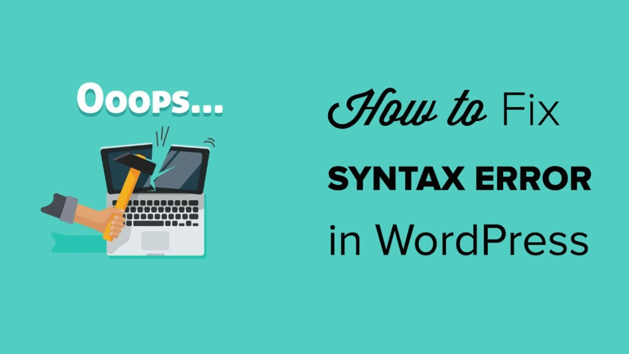 How to Fix the Syntax Error in WordPress - YouTube