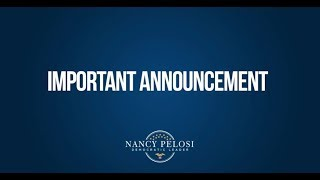 Important Announcement by Democratic Leader Nancy Pelosi: Net Neutrality