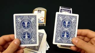 Difference between Bicycle Standard cards and  Bicycle Rider Back