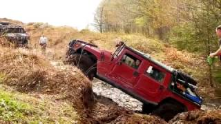 EXTREME 4X4 OFF-ROAD - HUMMER H1 Offroad Mud bump Round #2