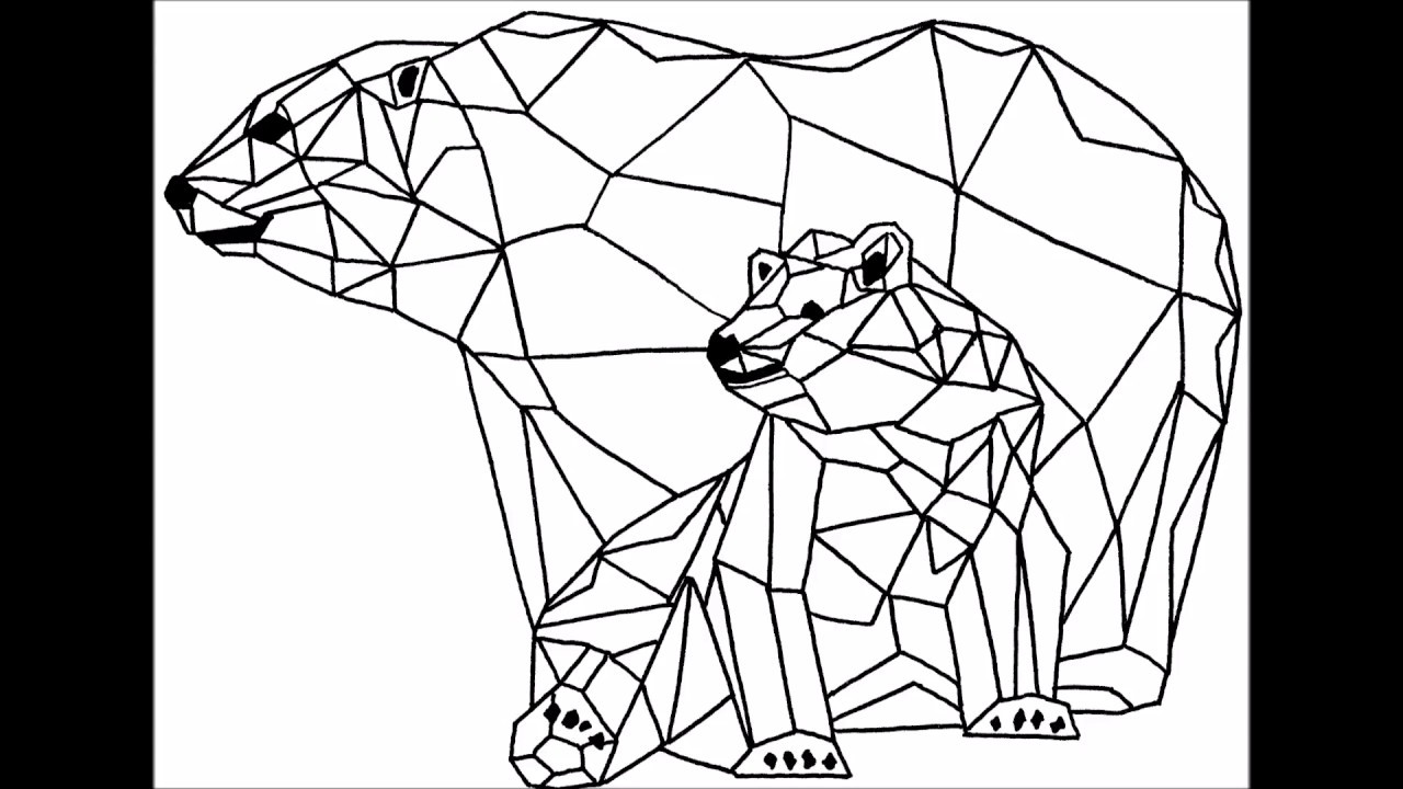 Ours polaire dessin g om trique youtube for Dessin en forme geometrique