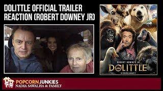 DOLITTLE Official Trailer Reaction (Robert Downey Jr)  - The Popcorn Junkies FAMILY REACTION