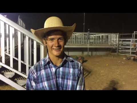 with C150 bull riding winner Donovan Rutherfurd