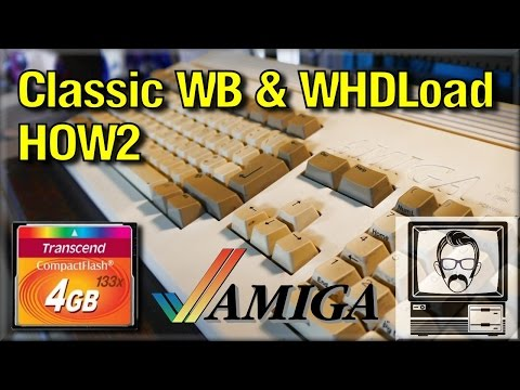 Amiga 1200 CF Install with WHDLoad & Classic Workbench Tutorial - HOW2 | Nostalgia Nerd