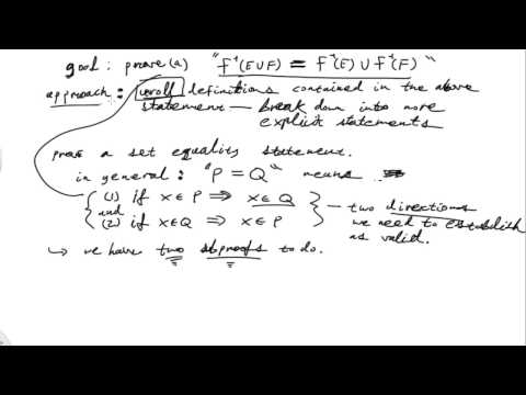 Properties Of The Inverse Image Of A Function On Sets: Practice With Proof