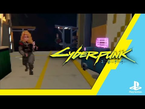 Cyberpunk 2077 is a PS1 RPG in this stunning Dreams demake