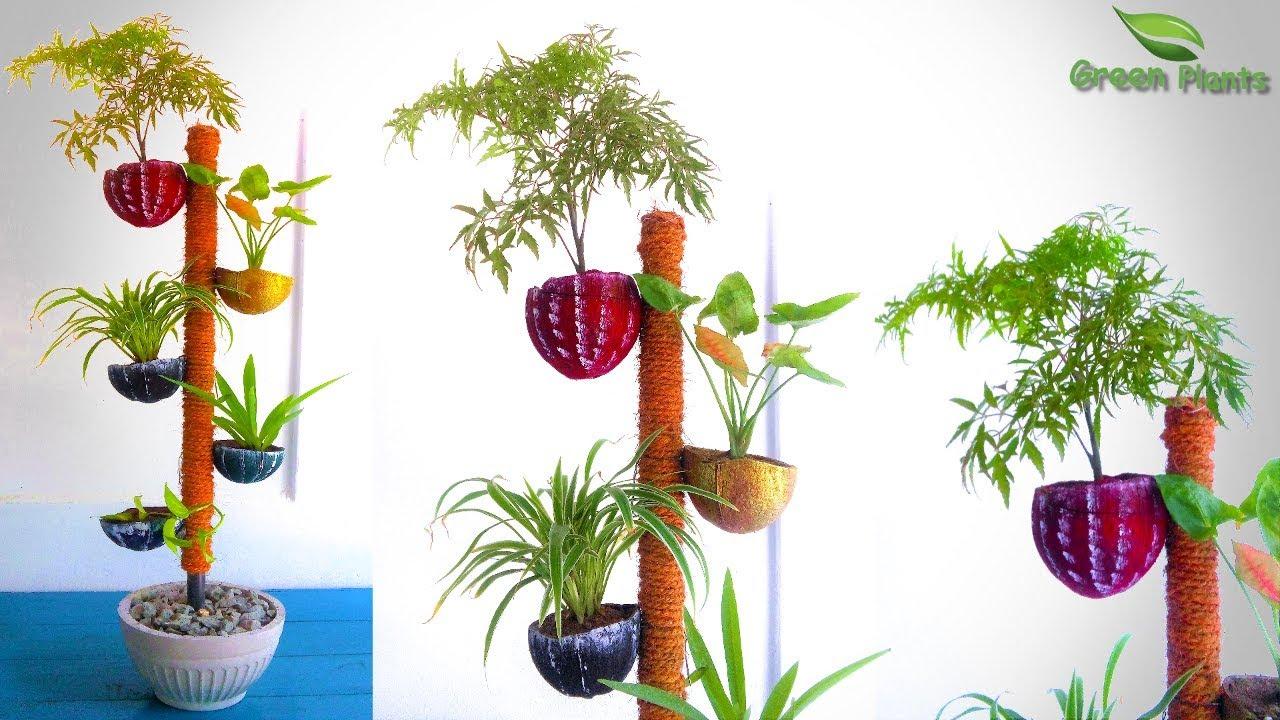 Flower pot Planter Basket Home Hanging Coconut Husk Vegetable Design Decoration