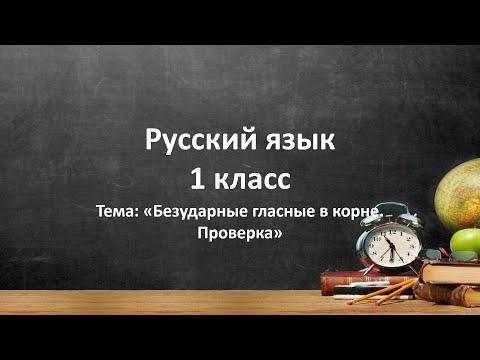 Безударные гласные в корне. Проверка. Русский язык. 1 класс. ВИДЕОУРОК.