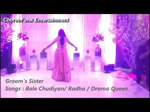 Bole Chudiyan | Radha | Drama Queen | Dance | Wedding | ChoreoFunk Entertainment