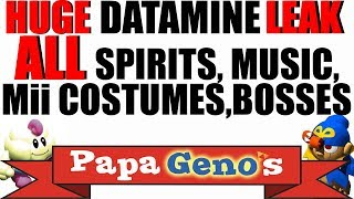 Huge Datamine Leak ALL Spirits, Music, Mii Costumes, Bosses - PapaGenos