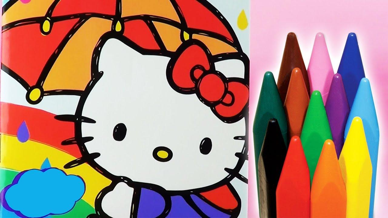 Hello Kitty Cat Coloring Book Video How To Color A Kittie Opening
