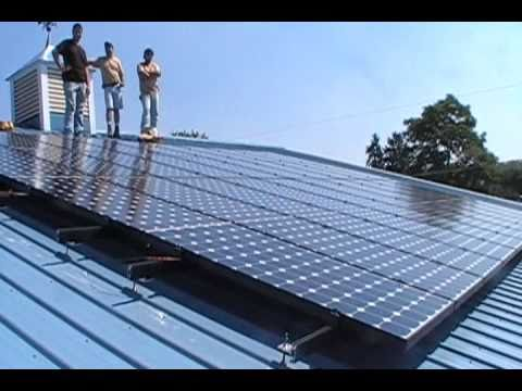Aztec Solar Panels make the Meter Run Backwards.wmv