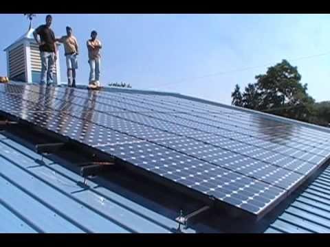 Aztec Solar Panels make the Meter Run Backwards.wmv