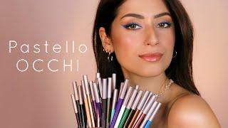 Pastello OCCHI ✨ swatch e applicazione di tutti i colori - Neve Cosmetics