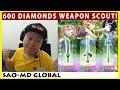600 Diamonds Weapon Scout Summer Night Festa Banner (SAO Memory Defrag)